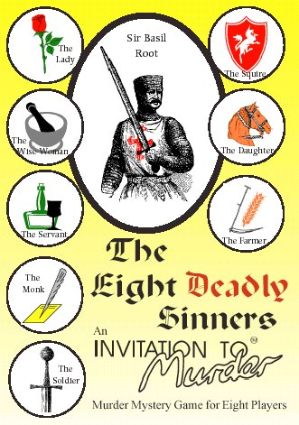 The Eight Deadly Sinners murder mystery game