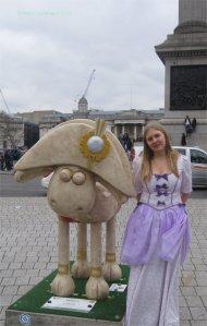 Bo Peep with Shaun the Sheep.