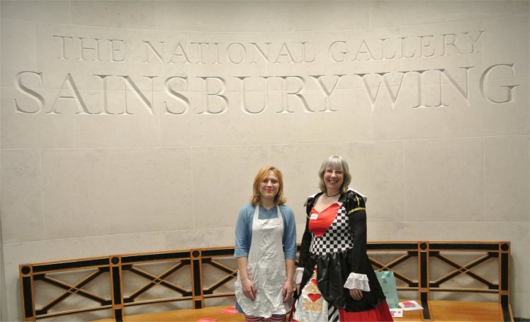 The Red Queen with Alice at the National Gallery