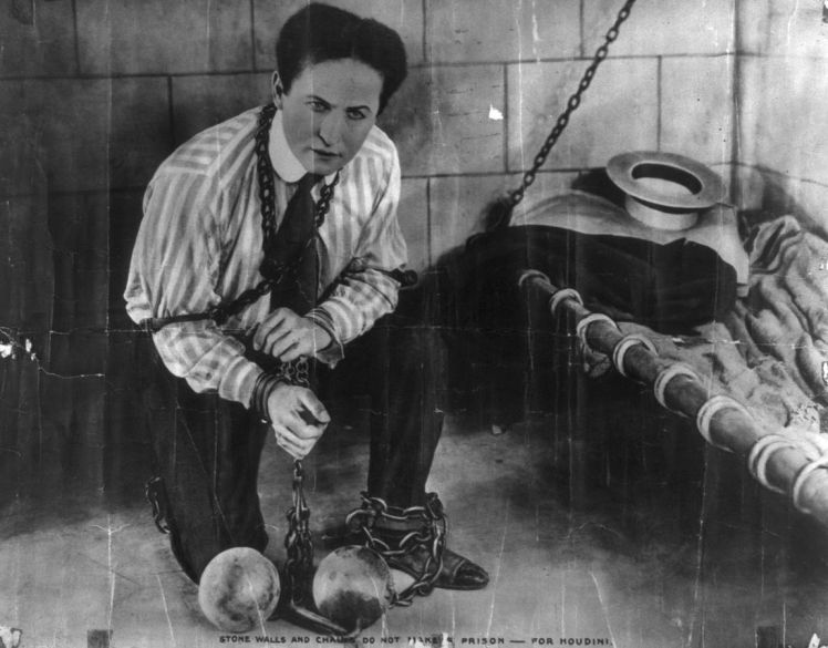Harry Houdini (1874–1926), Stone walls and chains do not make a prison --- for Houdini