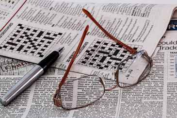 crossword puzzle in newspaper from pixabay