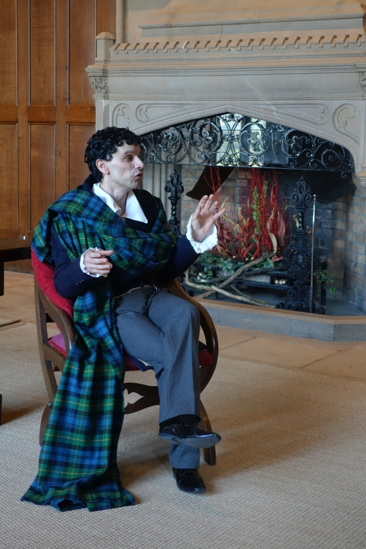 """Lord Byron"" costumed guide at Newstead Abbey - photo by Juliamaud"