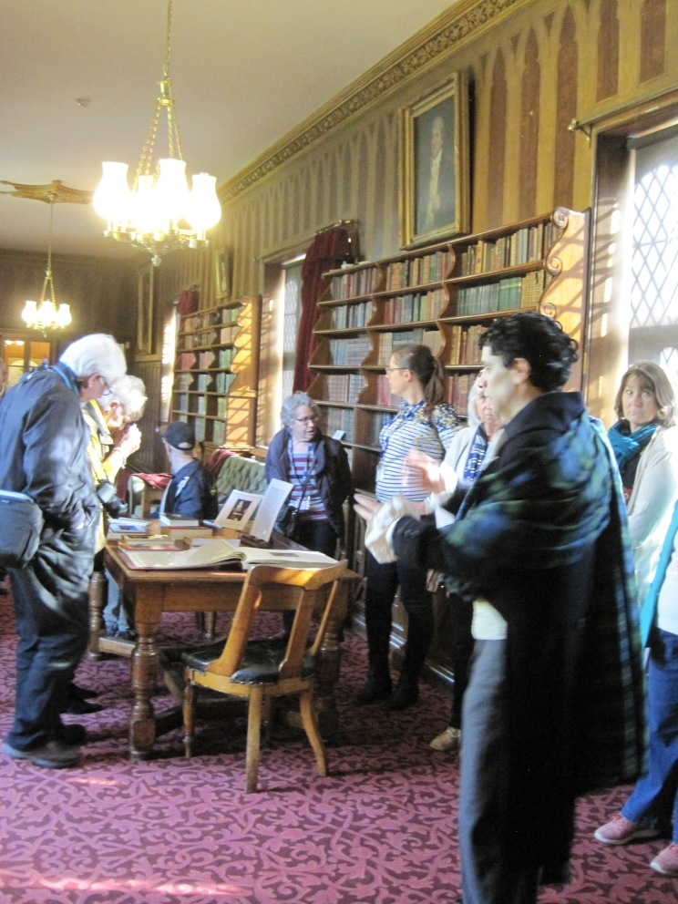 Library and paintings at Newstead Abbey - photo by Juliamaud